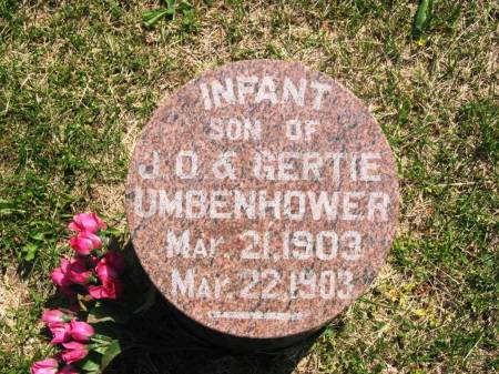 UMBENHOWER, J. O.'S INFANT SON - Lucas County, Iowa | J. O.'S INFANT SON UMBENHOWER