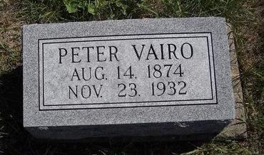 VAIRO, PETER - Lucas County, Iowa   PETER VAIRO