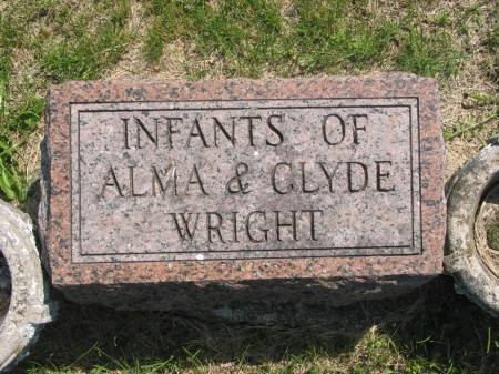 WRIGHT, CLYDE'S INFANTS - Lucas County, Iowa | CLYDE'S INFANTS WRIGHT