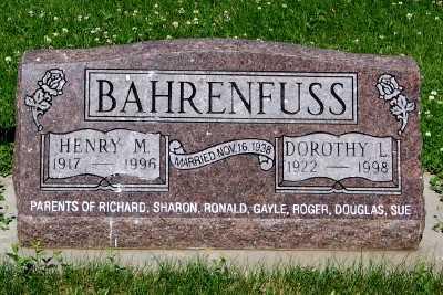 BAHRENFUSS, HENRY M. - Lyon County, Iowa | HENRY M. BAHRENFUSS