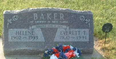 BAKER, HELENE - Lyon County, Iowa | HELENE BAKER