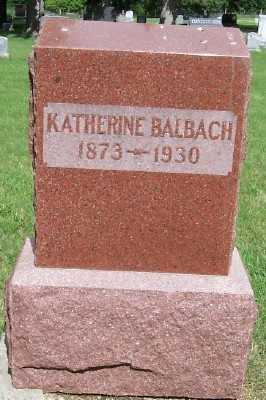 BALBACH, KATHERINE - Lyon County, Iowa | KATHERINE BALBACH