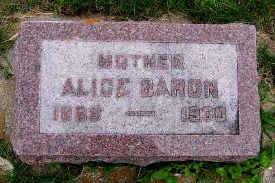BARON, ALICE - Lyon County, Iowa | ALICE BARON