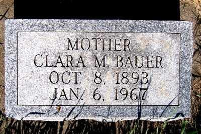 BAUER, CLARA M. - Lyon County, Iowa   CLARA M. BAUER