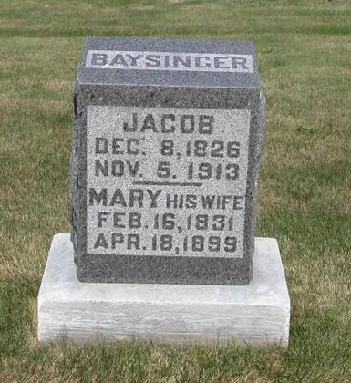 BAYSINGER, JACOB - Lyon County, Iowa | JACOB BAYSINGER