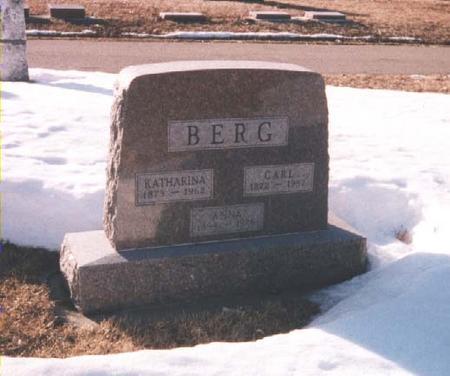BERG, KATHARINA ANNA - Lyon County, Iowa | KATHARINA ANNA BERG