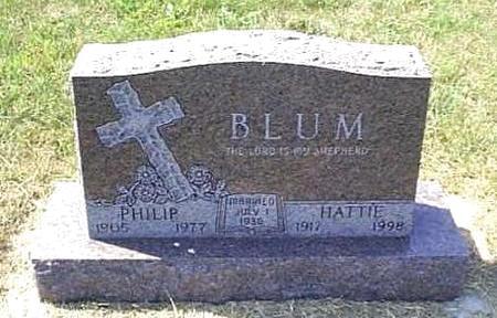 BLUM, HATTIE - Lyon County, Iowa   HATTIE BLUM