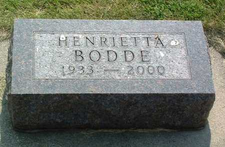 BODDE, HENRIETTA - Lyon County, Iowa | HENRIETTA BODDE
