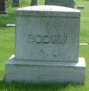 BODUM, HEADSTONE - Lyon County, Iowa | HEADSTONE BODUM