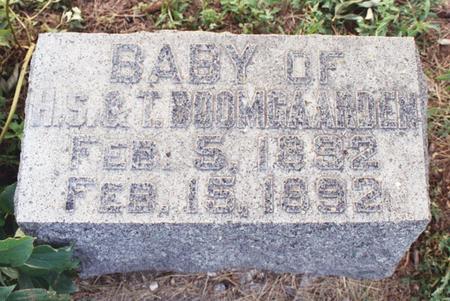 BOOMGAARDEN, BABY - Lyon County, Iowa   BABY BOOMGAARDEN
