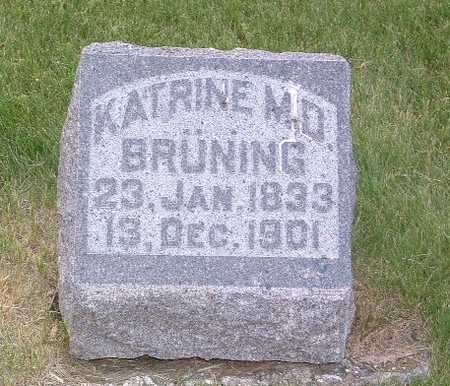 BRUNING, KATRINE - Lyon County, Iowa   KATRINE BRUNING