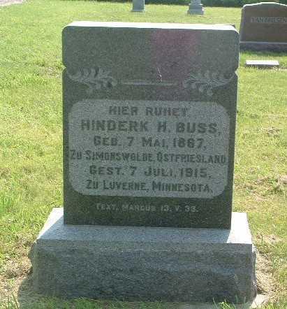 BUSS, HINDERK H. - Lyon County, Iowa | HINDERK H. BUSS