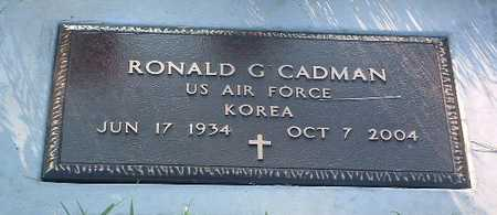 CADMAN, RONALD - Lyon County, Iowa   RONALD CADMAN