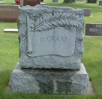 DE GRAAF, HEADSTONE - Lyon County, Iowa   HEADSTONE DE GRAAF