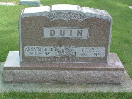 DUIN, PETER F. - Lyon County, Iowa | PETER F. DUIN
