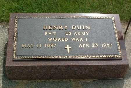 DUIN, HENRY - Lyon County, Iowa | HENRY DUIN