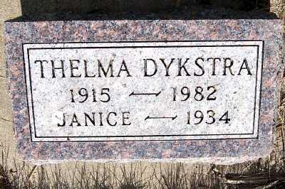 DYKSTRA, THELMA - Lyon County, Iowa | THELMA DYKSTRA