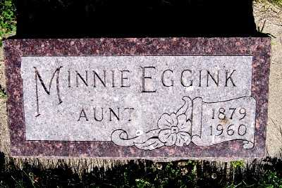 EGGINK, MINNIE - Lyon County, Iowa | MINNIE EGGINK