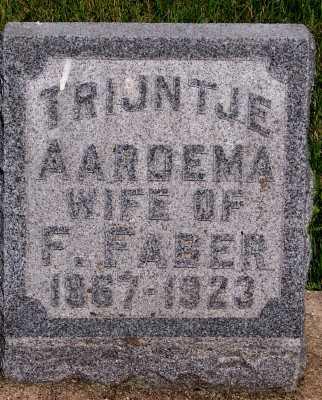 AARDEMA FABER, TRINTJE (MRS. F.) - Lyon County, Iowa | TRINTJE (MRS. F.) AARDEMA FABER