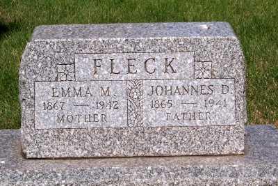FLECK, JOHANNES D. - Lyon County, Iowa   JOHANNES D. FLECK