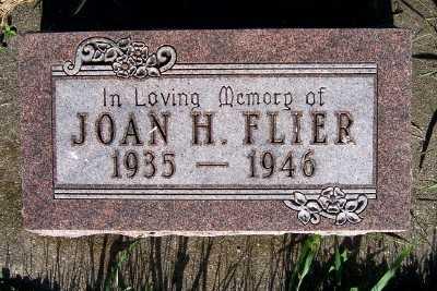 FLIER, JOAN H. - Lyon County, Iowa   JOAN H. FLIER