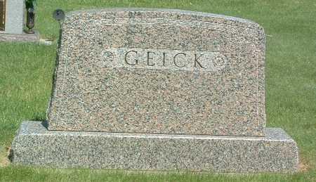 GEICK, HEADSTONE - Lyon County, Iowa   HEADSTONE GEICK