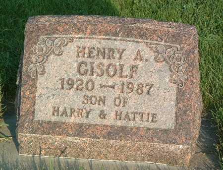 GISOLF, HENRY A. - Lyon County, Iowa | HENRY A. GISOLF
