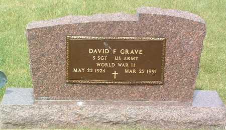 GRAVE, DAVID F. - Lyon County, Iowa   DAVID F. GRAVE