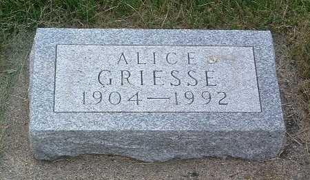 GRIESSE, ALICE - Lyon County, Iowa   ALICE GRIESSE
