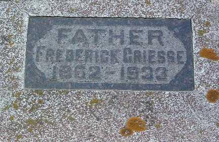 GRIESSE, FREDERICK - Lyon County, Iowa | FREDERICK GRIESSE