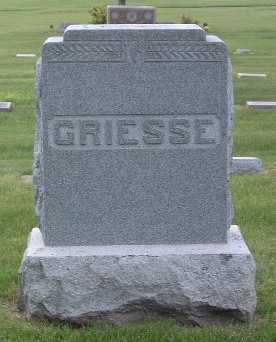 GRIESSE, FAMILY HEADSTONE - Lyon County, Iowa | FAMILY HEADSTONE GRIESSE
