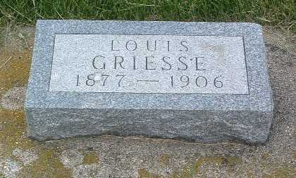GRIESSE, LOUIS - Lyon County, Iowa | LOUIS GRIESSE