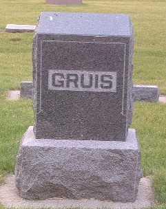 GRUIS, FAMILY HEADSTONE - Lyon County, Iowa | FAMILY HEADSTONE GRUIS