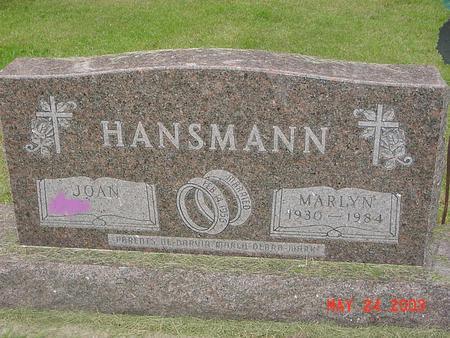 HANSMANN, MARLYN - Lyon County, Iowa   MARLYN HANSMANN