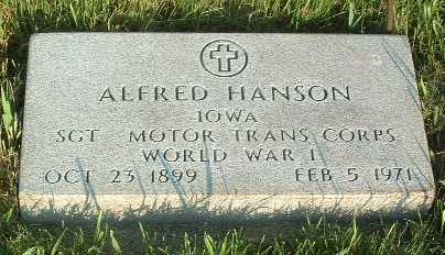 HANSON, ALFRED - Lyon County, Iowa   ALFRED HANSON