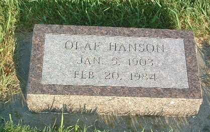 HANSON, OLAF - Lyon County, Iowa | OLAF HANSON