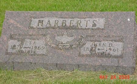 HARBERTS, JURN - Lyon County, Iowa   JURN HARBERTS