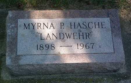 HASCHE, MYRNA P. - Lyon County, Iowa | MYRNA P. HASCHE