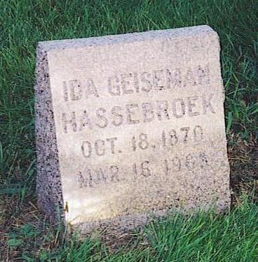 GEISEMAN HASSEBROEK, IDA - Lyon County, Iowa | IDA GEISEMAN HASSEBROEK