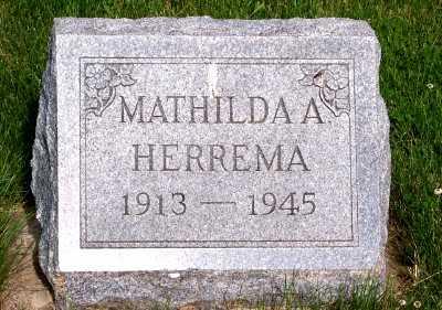HERREMA, MATHILDA A. - Lyon County, Iowa | MATHILDA A. HERREMA