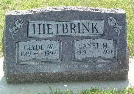 HIETBRINK, JANET M. - Lyon County, Iowa | JANET M. HIETBRINK