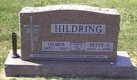 LONG HILDRING, BETTY AMELIA - Lyon County, Iowa | BETTY AMELIA LONG HILDRING