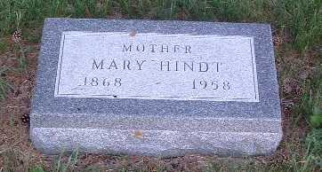 HINDT, MARY - Lyon County, Iowa | MARY HINDT
