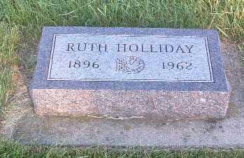 HOLLIDAY, RUTH - Lyon County, Iowa   RUTH HOLLIDAY