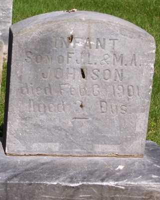 JOHNSON, INFANT SON OF F.J.L.&M.A. - Lyon County, Iowa | INFANT SON OF F.J.L.&M.A. JOHNSON