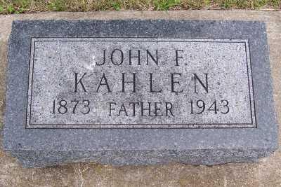 KAHLEN, JOHN F. - Lyon County, Iowa   JOHN F. KAHLEN