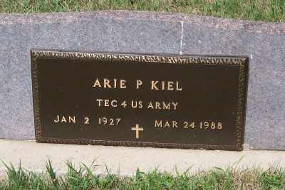KIEL, ARIE P. - Lyon County, Iowa | ARIE P. KIEL