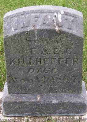 KILLHEFFER, INFANT SON OF J.F. & E.C. - Lyon County, Iowa | INFANT SON OF J.F. & E.C. KILLHEFFER