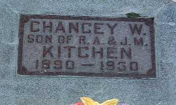 KITCHEN, CHANCEY W. - Lyon County, Iowa | CHANCEY W. KITCHEN