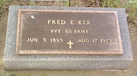 KIX, FRED E. - Lyon County, Iowa   FRED E. KIX
